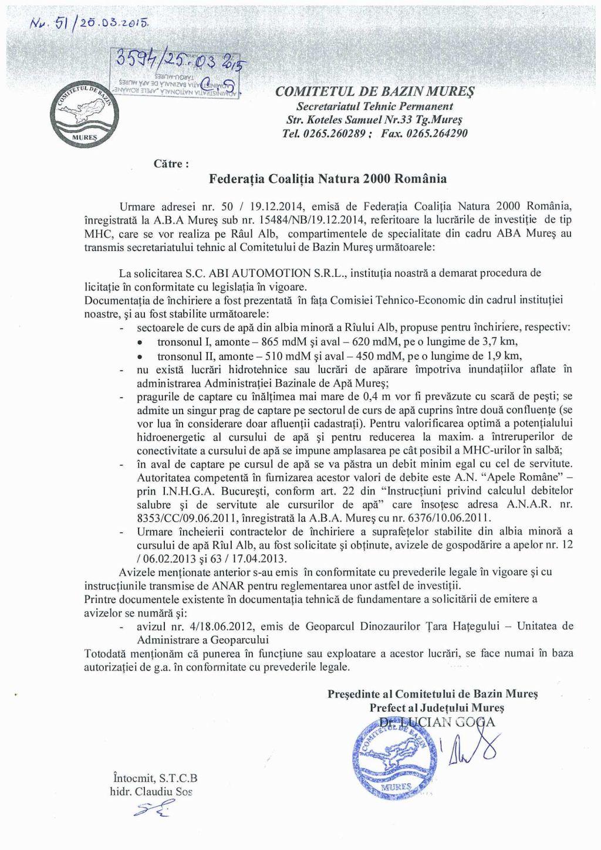 Anexa 2 adresa Comitet de Bazin Mures