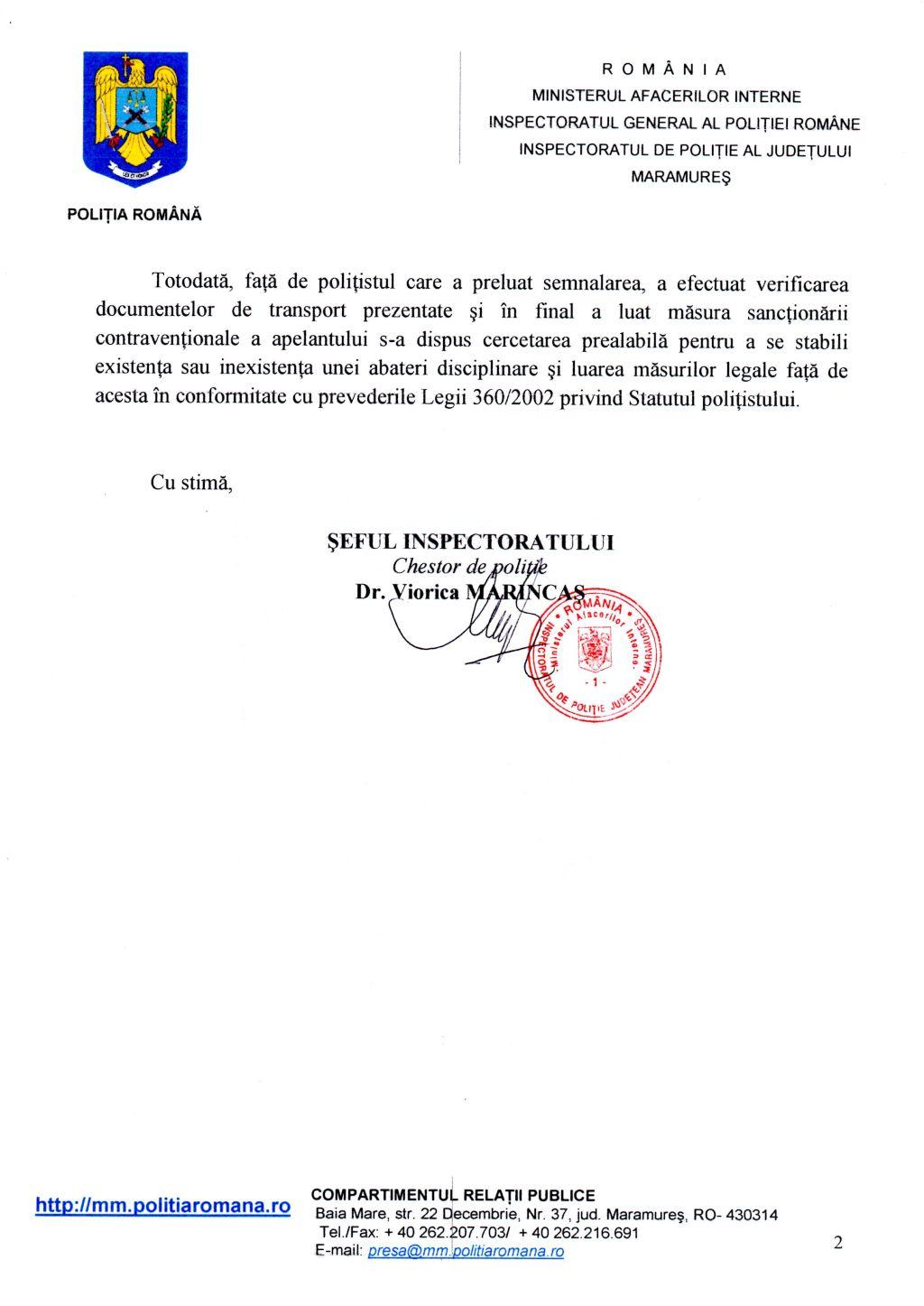 Raspuns Daniel Befu 2 10.06.2015