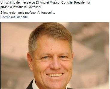 De ce a refuzat Liviu Antonesei invitația la Cotroceni la o întâlnire cu președintele Klaus Iohannis