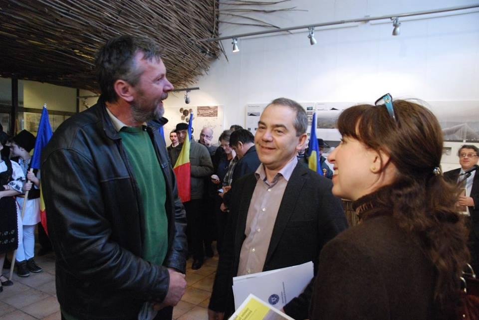 Eugen David și miniștrii Culturii, Vlad Alexandrescu, respectiv Mediului, Cristiana Pașca-Palmer