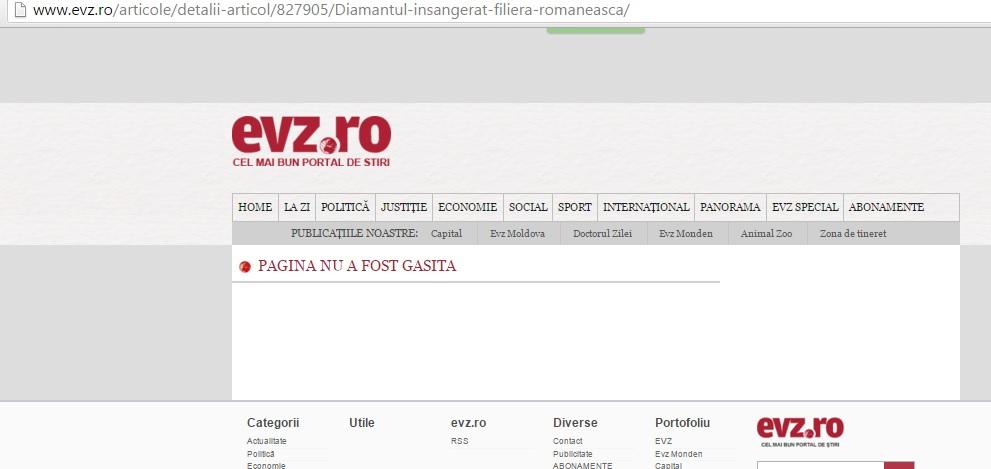 """""""Diamantul însângerat. Filiera românească"""" e articolul din EVZ despre implicarea lui Steinmetz în războiul civil din Sierra Leone, de care își mai amintește doar indexarea Google"""
