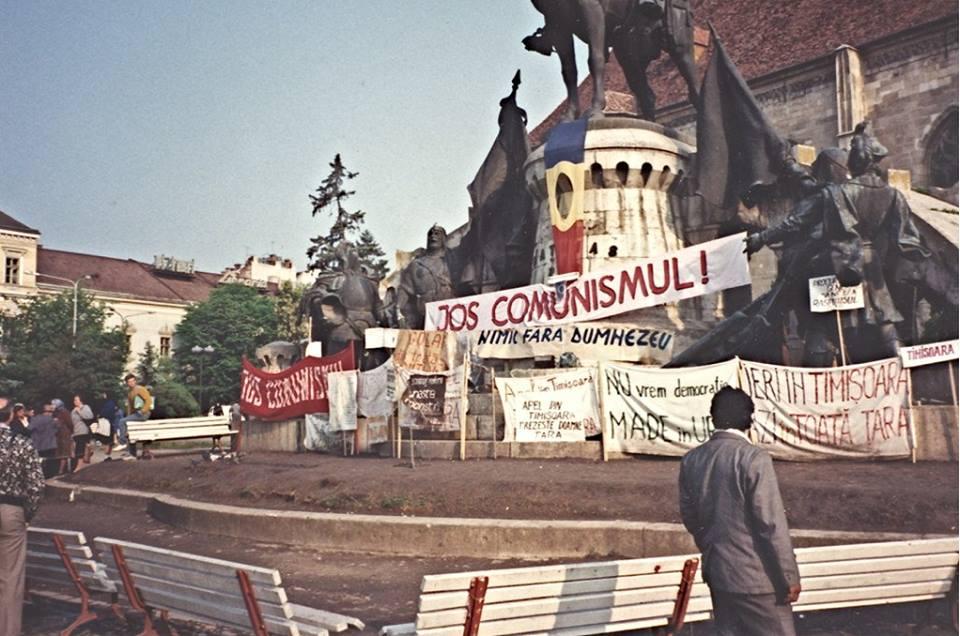 Cluj, Piața Unirii, 1990