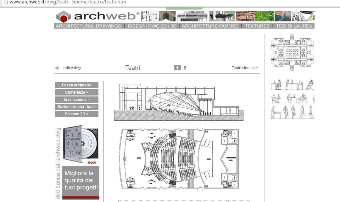 Schița de proiect din baza de date www.archweb.it