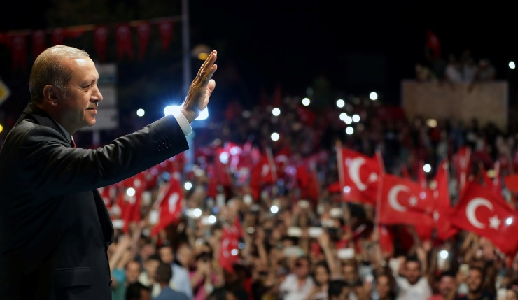 "Erdogan – ""miting pentru democrație și martiri"""