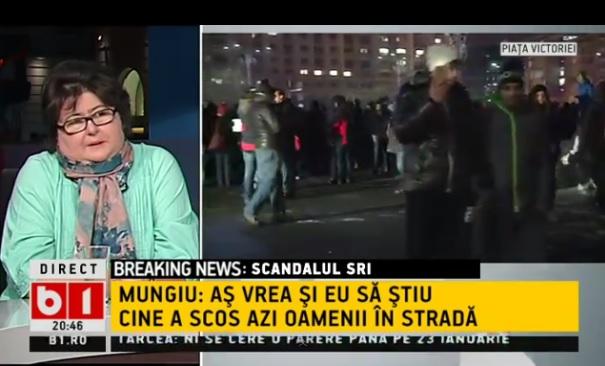 Ce a spus, de fapt, Alina Mungiu-Pippidi despre mitingul de miercuri seara