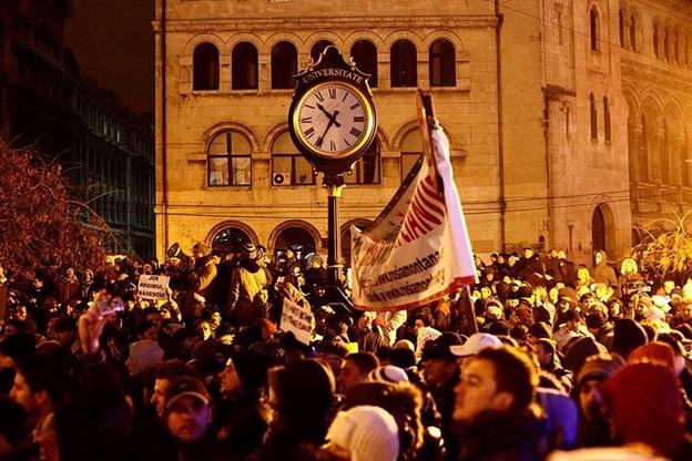 5 ani de la revolta anti-autoritară din Piața Universității