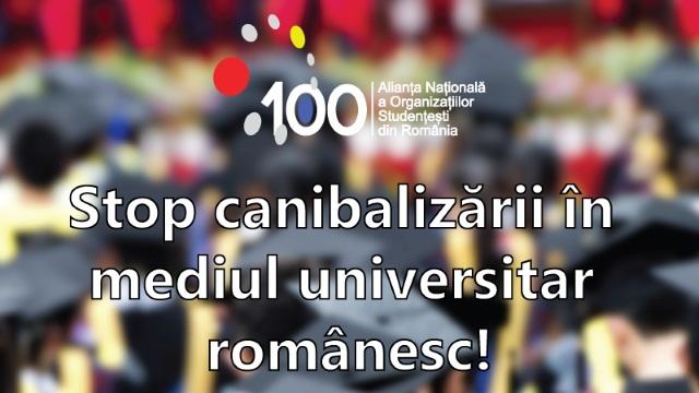 Stop canibalizării în mediul universitar românesc!