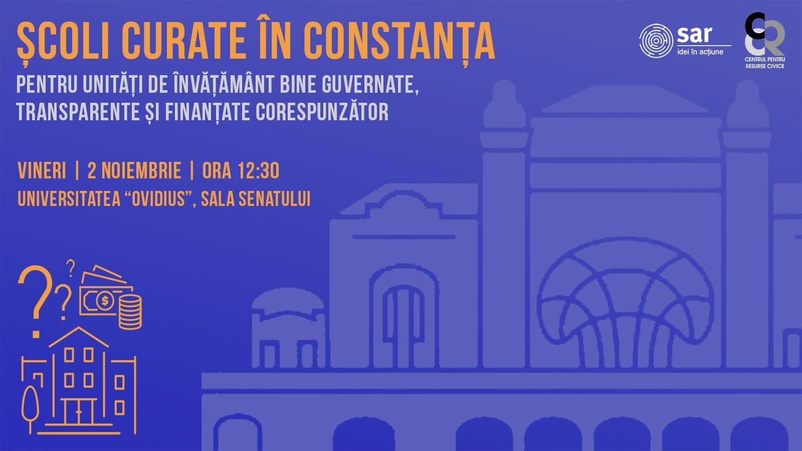 Vineri începem turneul Școli Curate la Constanța!