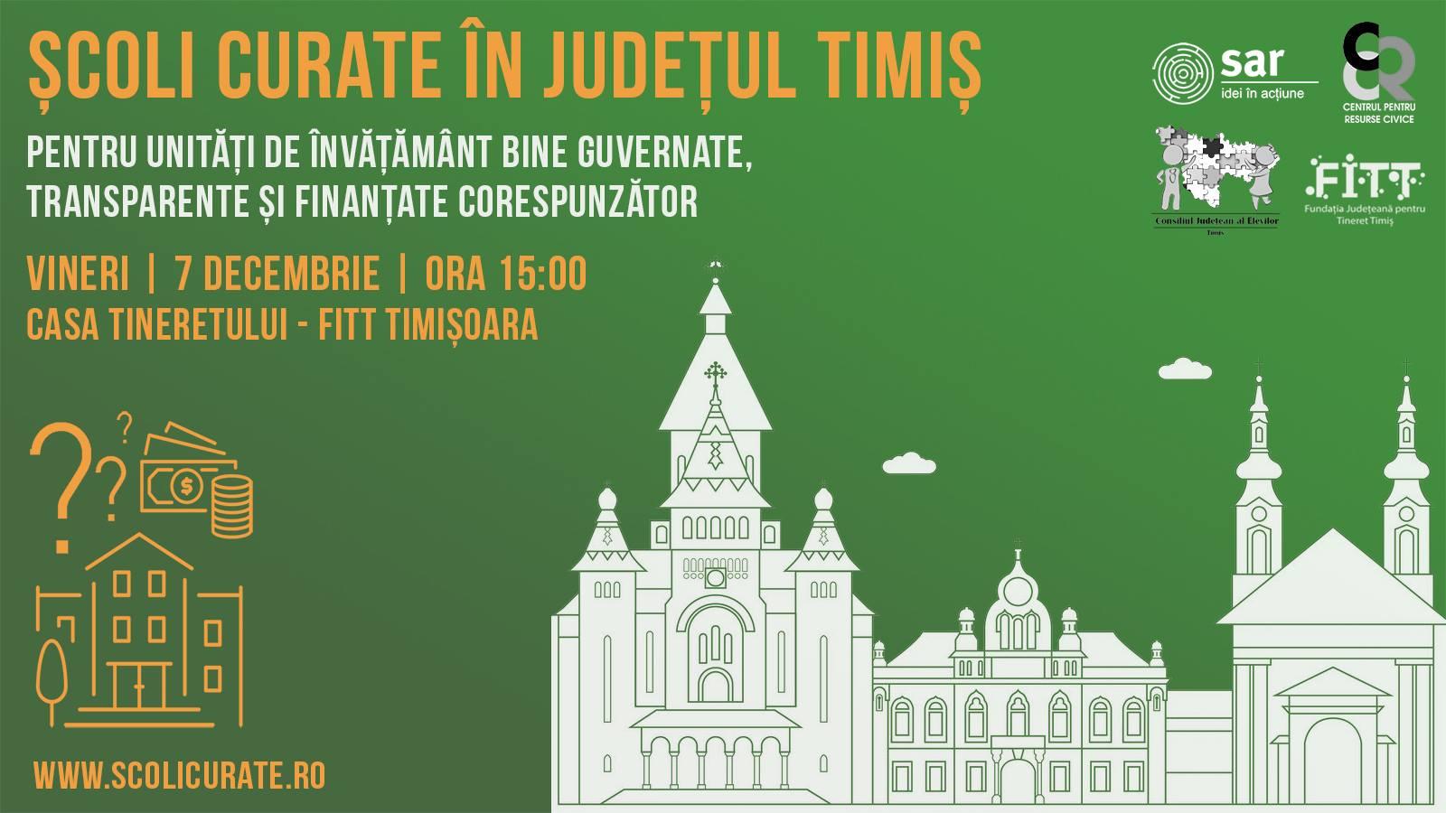 Mâine ajungem cu Școli Curate la Timișoara