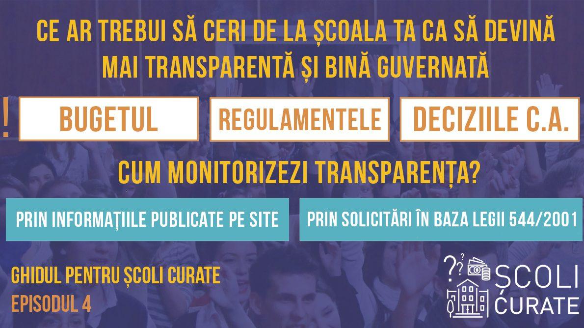 Ce ar trebui să monitorizăm la școlile noastre pentru a le face mai transparente și bine guvernate