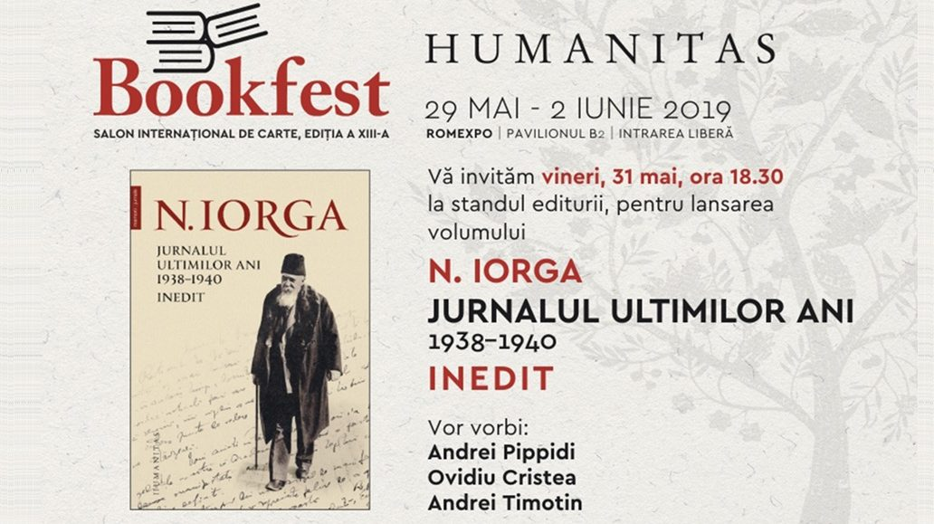 Premieră absolută: Nicolae Iorga – Jurnalul ultimilor ani