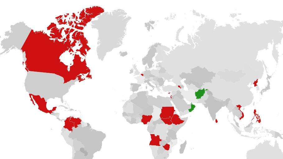 România nu are ambasadori în 19 țări. Israel, Canada, Belgia și Cipru se numără printre ele