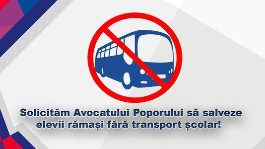 Petiție către Avocatul Poporului pentru sesizarea la CCR a ordonanței ce lasă elevii fără transport