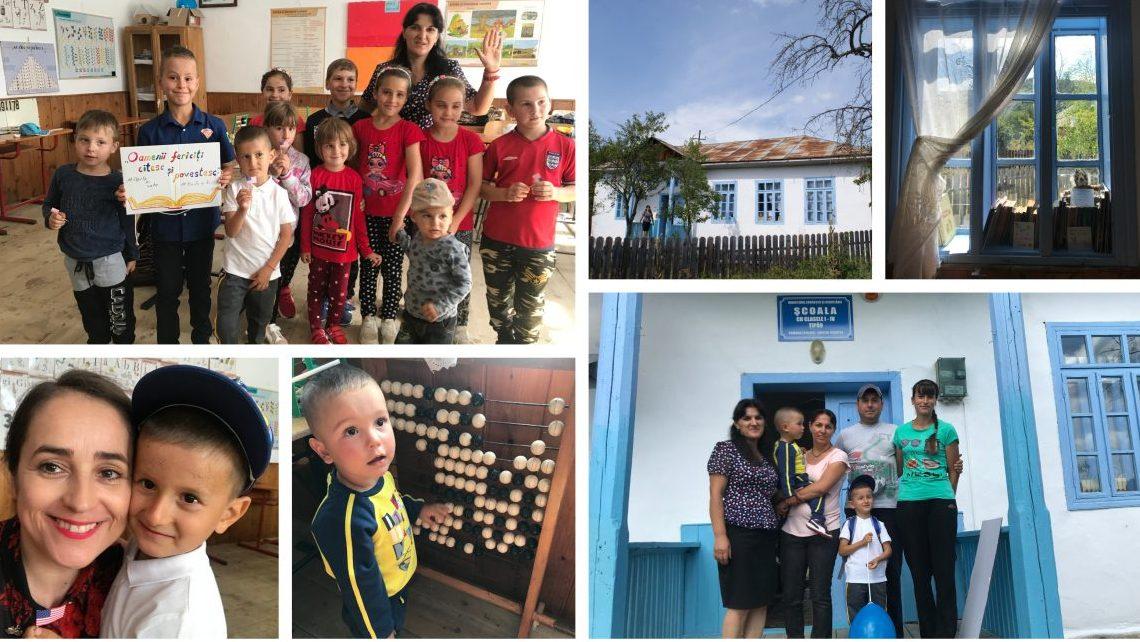 Școala satului Țipău pare decupată dintr-o poveste de la începutul secolului trecut