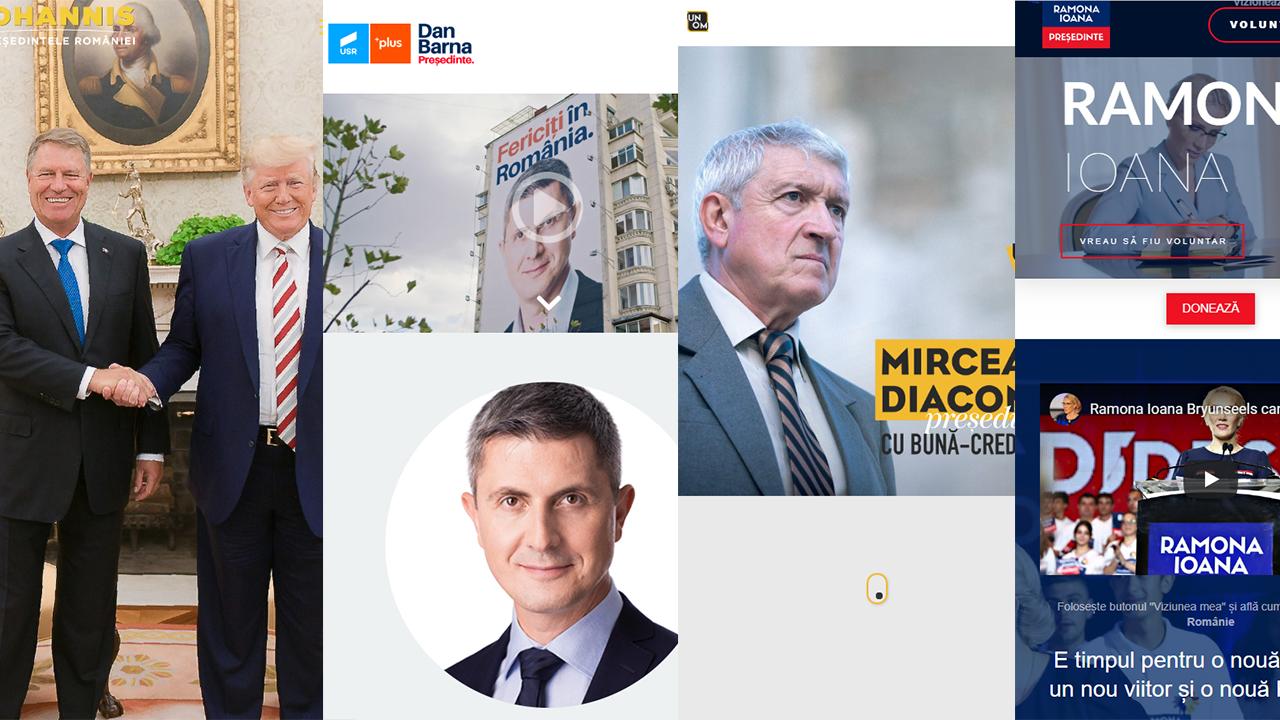 Jurnal de campanie (1): comentăm site-urile candidaților la prezidențiale