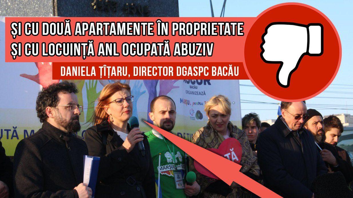 Și cu două apartamentele în proprietate, și cu locuință de la stat ocupată abuziv – cazul Danielei Țîțaru, directorul DGASPC Bacău