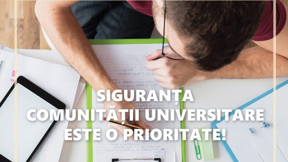 Studenții cer și ei suspendarea cursurilor: siguranța comunității universitare este o prioritate