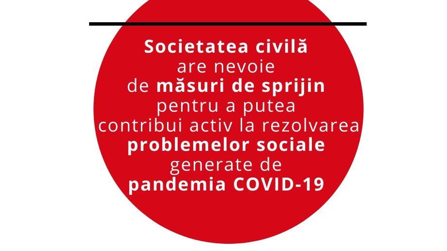Aproape 300 de organizații cer măsuri de sprijin pentru societatea civilă astfel încât să poată contribui activ la rezolvarea problemelor sociale generate de pandemia COVID-19
