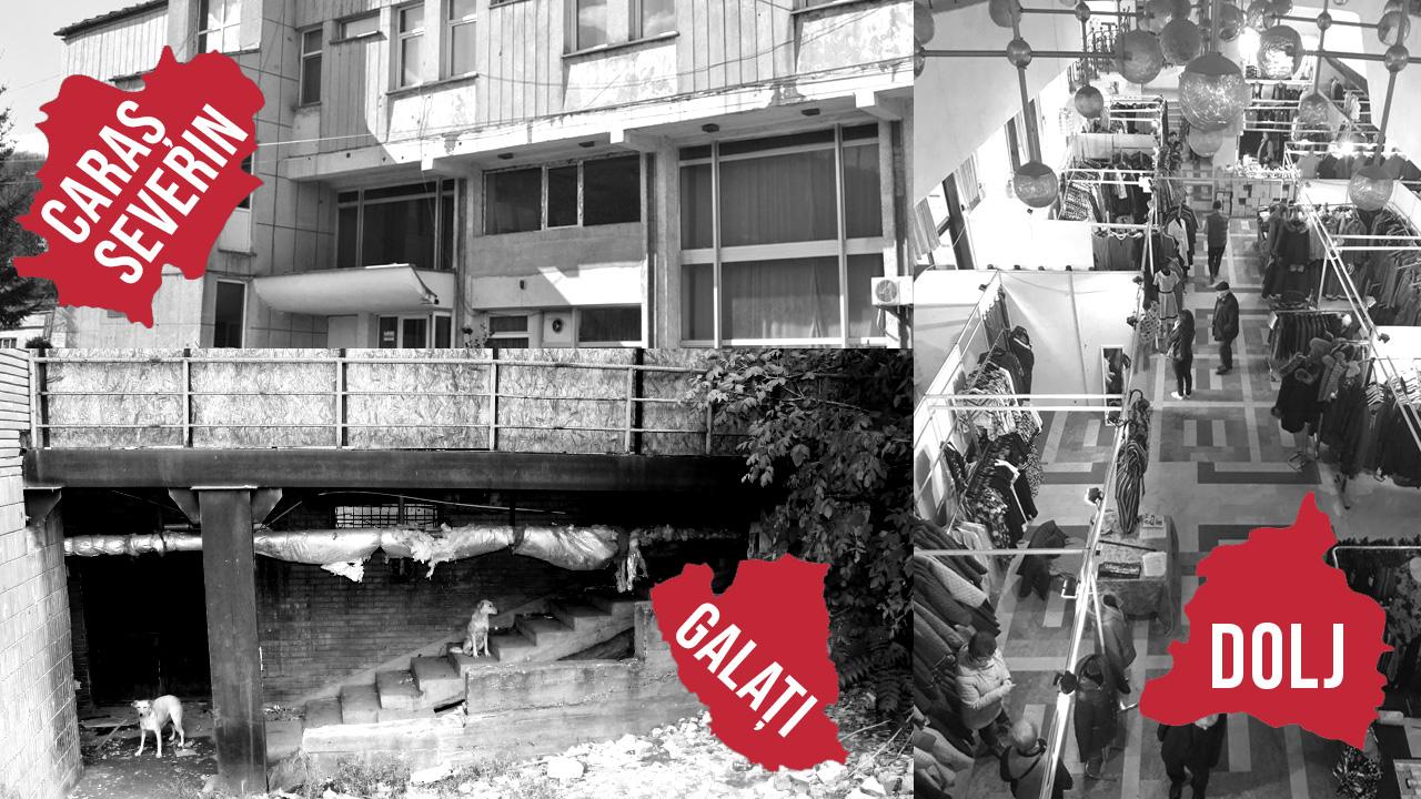 Soarta patrimoniului UTC în Caraș-Severin, Dolj și Galați: lichidare, mall părăsit, târguri de haine, paragină