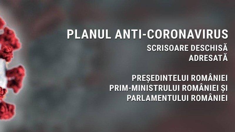 Avem nevoie de un plan anti-coronavirus! Scrisoare deschisă adresată președintelui, premierului și Parlamentului României