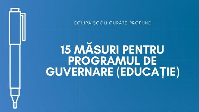 Măsurile SAR pentru programul de guvernare: pentru o educație accesibilă, calitativă, mai bine guvernată