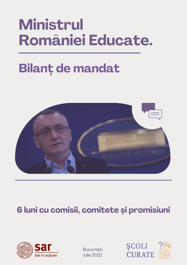 BILANȚ Ministrul României Educate. 6 luni cu comisii, comitete și promisiuni